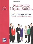 Managing Organizations by David Charles…