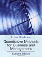 Quantitative Methods for Business Management…