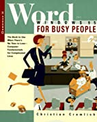 Word for Windows 95 for Busy People by…