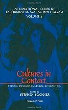 Cultures in Contact: Studies in…