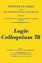 Logic Colloquium '78 proceedings of the…