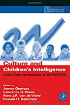 Culture and Children's Intelligence:…