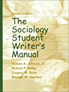 The Sociology Student Writer's Manual…