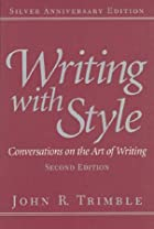 Writing With Style: Conversations on the Art…