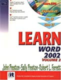 Preston, John: Learn Word 2002