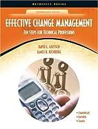 Effective Change Management: Ten Steps for…