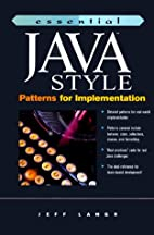 Essential Java Style: Patterns for…