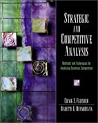 Strategic and competitive analysis : methods…