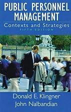 Public Personnel Management: Contexts and…