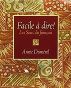 Facile a Dire: Les Sons Francais& Aud CD Pkg
