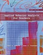 Applied Behavior Analysis for Teachers (7th…