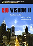 CIO Wisdom II: More Best Practices by…