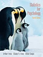 Statistics for Psychology (4th Edition) by…