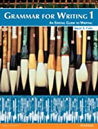 Grammar for Writing 1 (Student Book alone)…