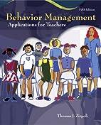 Behavior Management: Applications for…
