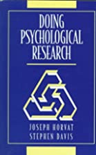 Doing Psychological Research by Joseph…