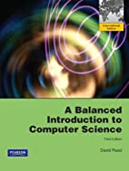 A Balanced Introduction to Computer Science…