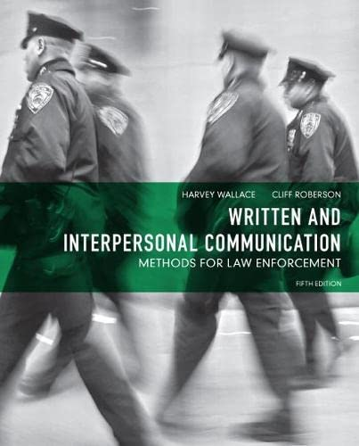 written-and-interpersonal-communication-methods-for-law-enforcement-5th-edition