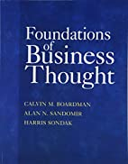 Foundations of Business Thought by Calvin…