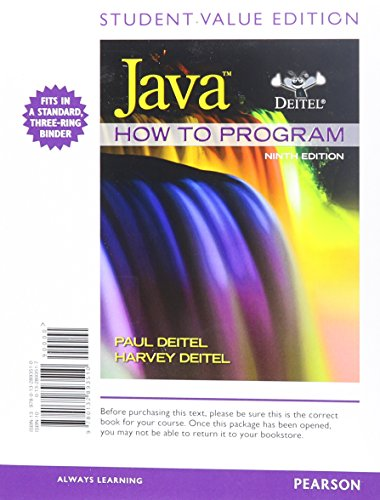 student-value-edition-for-java-how-to-program-early-objects-9th-edition