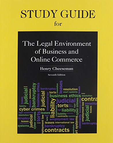 study-guide-for-legal-environment-of-business-and-online-commerce