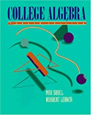 College Algebra (4th Edition) by Max A.…