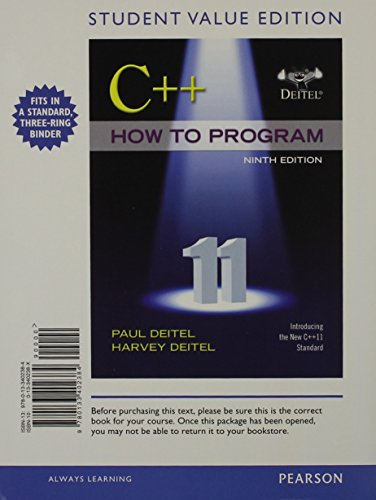 c-how-to-program-early-objects-student-value-edition-plus-myprogramminglab-with-pearson-etext-access-card-package-9th-edition