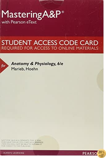 MasteringA&P with Pearson eText -- ValuePack Access Card -- for Anatomy & Physiology