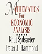 Mathematics for Economic Analysis by Knut…