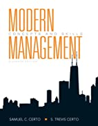 Modern Management: Concepts and Skills (12th…