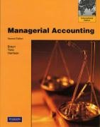 Managerial Accounting by Wendy M. Tietz…