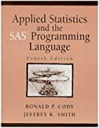 Applied Statistics and the SAS Programming…