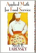 Applied Math for Food Service by Sarah R.…