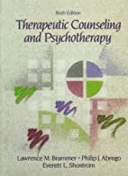 Therapeutic Counseling and Psychotherapy by…