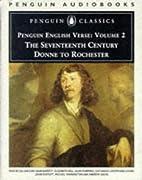 English Verse: Volume 2: The Seventeenth…