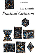 Practical Criticism: A Study Of Literary…
