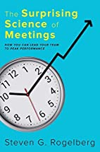 The Surprising Science of Meetings: How You…