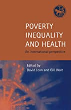 Poverty, Inequality and Health: An…