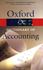 A Dictionary of Accounting (Oxford Paperback…