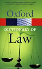 A Dictionary of Law (Oxford Paperback…