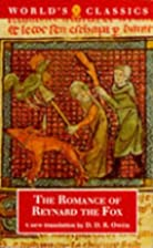 The Romance of Reynard the Fox by Anonyme