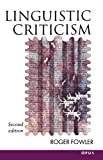 Fowler, Roger: Linguistic Criticism