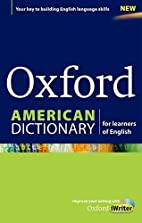 Oxford American Dictionary for learners of…