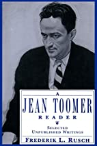 A Jean Toomer Reader: Selected Unpublished…