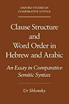 Clause Structure and Word Order in Hebrew…