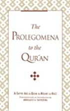 Prolegomena to the Qur'an by Al-Sayyid…