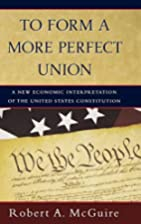 To Form a More Perfect Union: A New Economic…