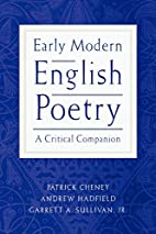 Early Modern English Poetry: A Critical…