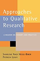 Approaches to Qualitative Research: A Reader…