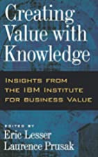 Creating Value with Knowledge: Insights from…